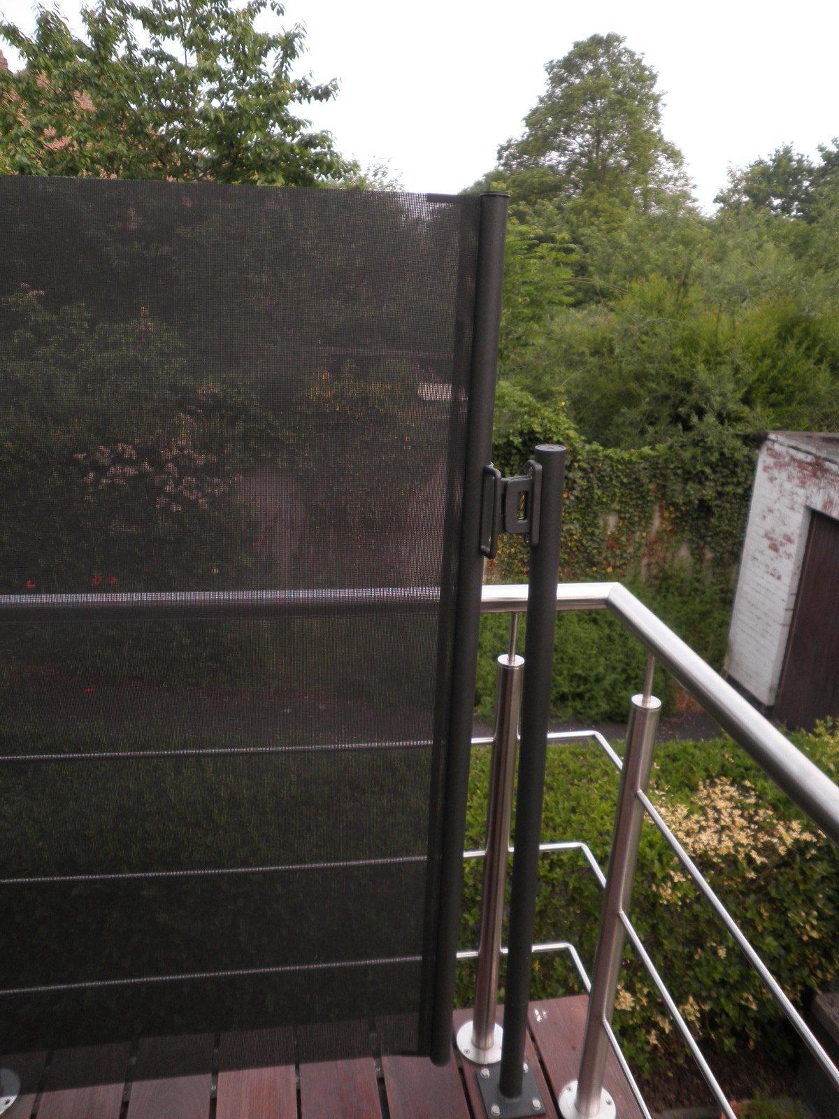 Windscherm op balkon - met eindmast.